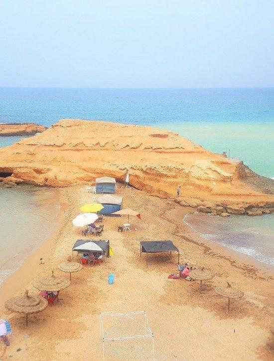 The wild beach of Sid El Bachir